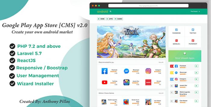Google Play App Store [CMS] v2.0.3