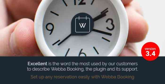 Webba Booking v3.4.39 - WordPress Appointment & Reservation plugin