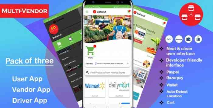 Multi Vendor Grocery Android App with Backend v1.0.1 - Bigbasket Grofers Happyfresh Clone