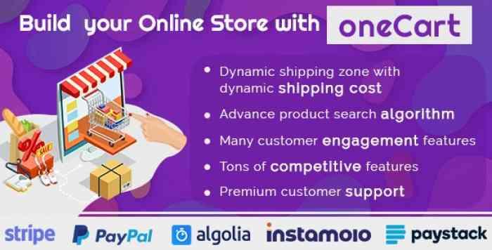 oneCart v1.0.1 - eCommerce Software - Online Store Solution
