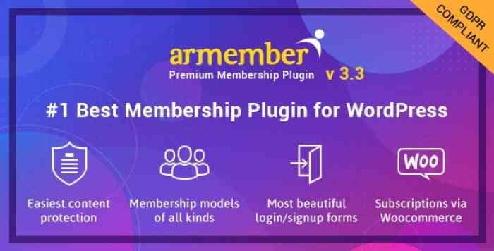 ARMember v3.3.1 – WordPress Membership Plugin