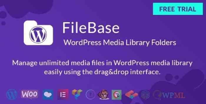 FileBase v1.2.0 – Ultimate Media Library Folders for WordPress