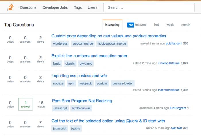 StackOverflow Clone Free Download