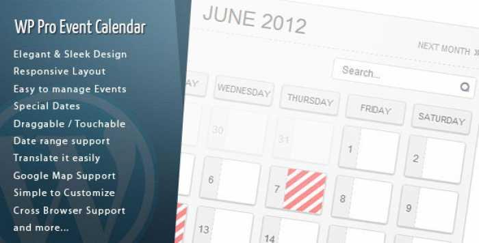 WordPress Pro Event Calendar v3.0.5