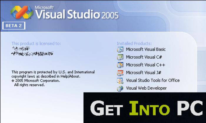 Visual Studio 2005 Free Download