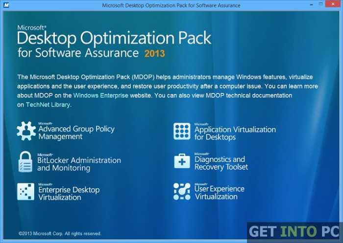Microsoft Desktop Optimization Free Download