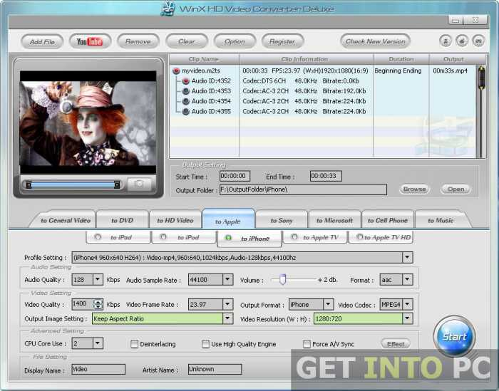 WinX HD Video Converter Deluxe Free Download