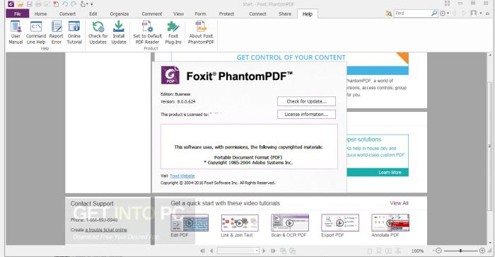 Foxit PhantomPDF Business 8 ISO Free Download