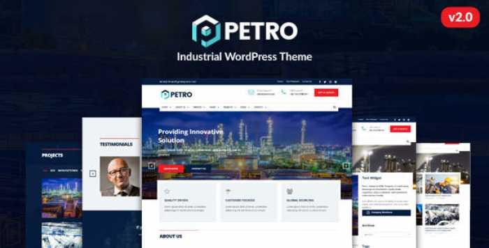 PETRO V2.1.9 – INDUSTRIAL WORDPRESS THEME