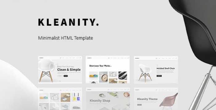 KLEANITY – MINIMALIST HTML TEMPLATE / CREATIVE PORTFOLIO