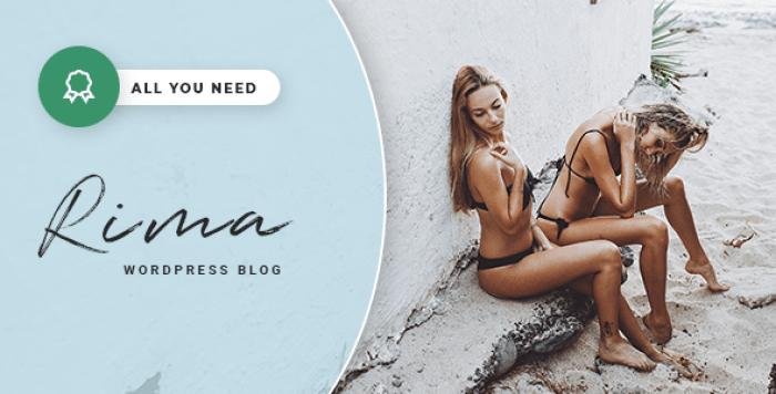 RIMA V1.7.1 – PERSONAL BLOG WORDPRESS THEME