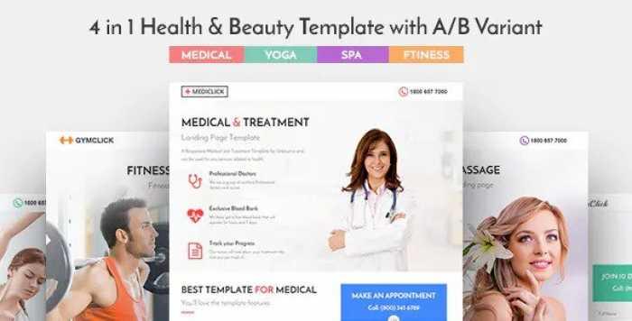 MEDICLICK V1.0.1 – MEDICAL LANDING PAGE WORDPRESS THEME