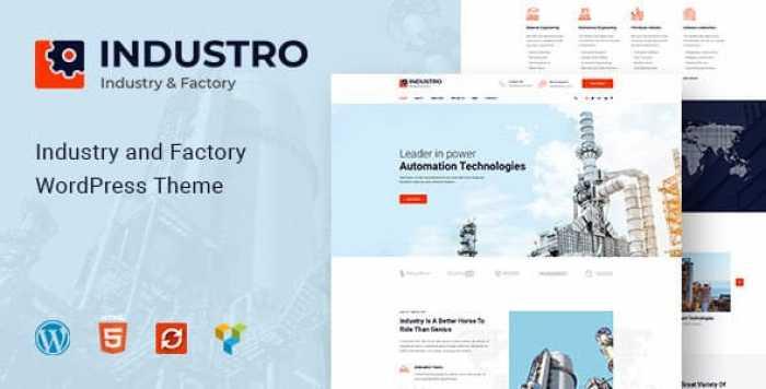 INDUSTRO V1.0.3 – INDUSTRY & FACTORY WORDPRESS THEME
