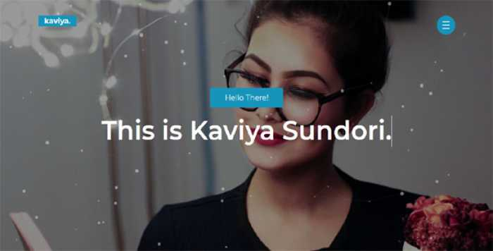 KAVIYA – PORTFOLIO HTML TEMPLATE