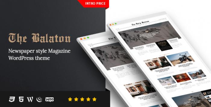 BALATON V1.0.8 – NEWSPAPER STYLE MAGAZINE WORDPRESS