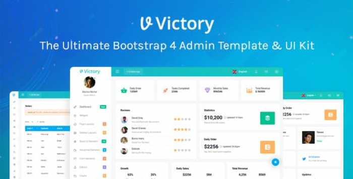 VICTORY – BOOTSTRAP 4 ADMIN TEMPLATE