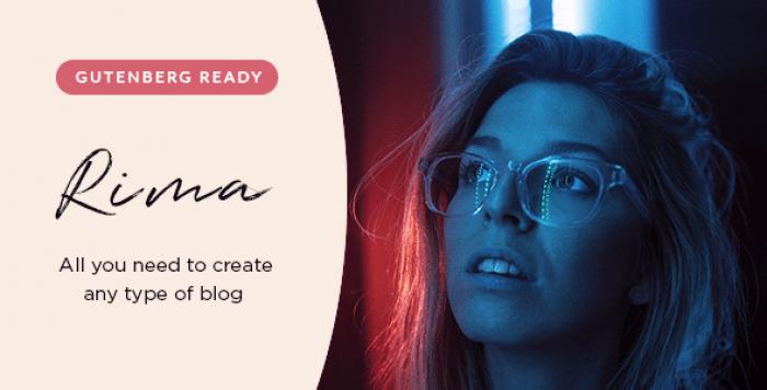 RIMA V1.6.1 – PERSONAL BLOG WORDPRESS THEME