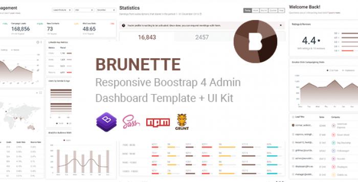 BRUNETTE – RESPONSIVE BOOTSTRAP 4 ADMIN & POWERFUL UI KIT