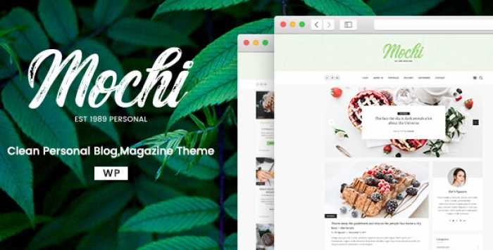 MOCHI V2.0.0 – A CLEAN PERSONAL WORDPRESS BLOG THEME