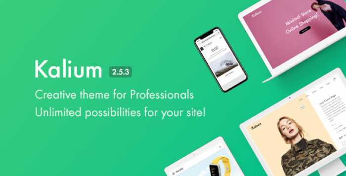 KALIUM V2.5.3 – CREATIVE THEME FOR PROFESSIONALS