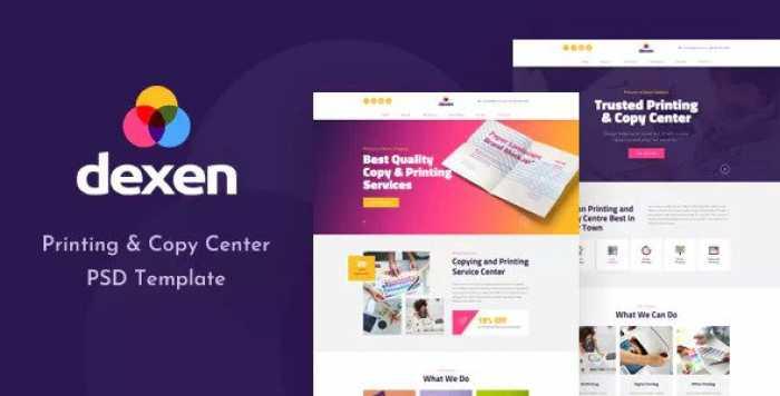 DEXEN – PRINTING AND COPY CENTER PSD TEMPLATE