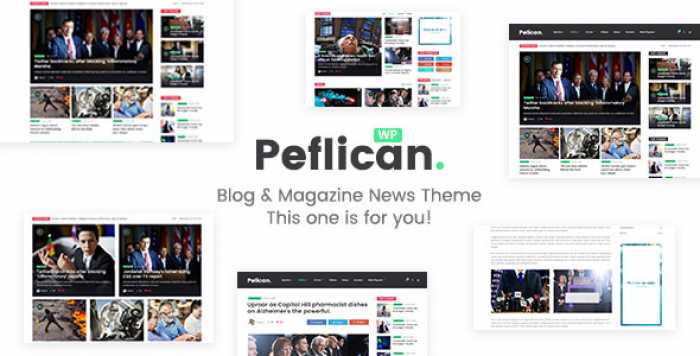 PEFLICAN V1.0.3 – A NEWSPAPER AND MAGAZINE WORDPRESS THEME