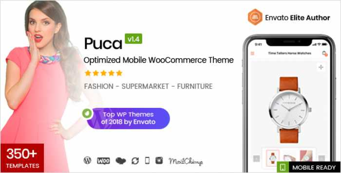 PUCA V1.4.1 – OPTIMIZED MOBILE WOOCOMMERCE THEME