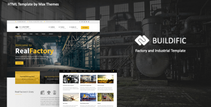 BUILDIFIC – FACTORY AND INDUSTRIAL HTML TEMPLATE