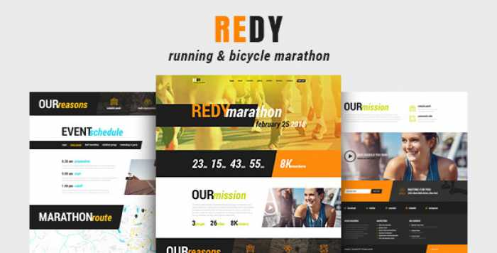 REDY V1.0.2 – MARATHON & SPORTS WORDPRESS THEME