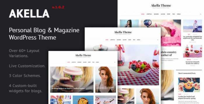 AKELLA V1.0.2 – PERSONAL BLOG & MAGAZINE WORDPRESS THEME