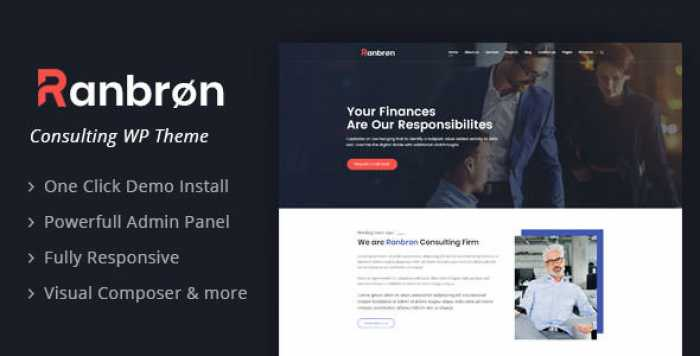 RANBRON V1.5 – BUSINESS AND CONSULTING WORDPRESS THEME