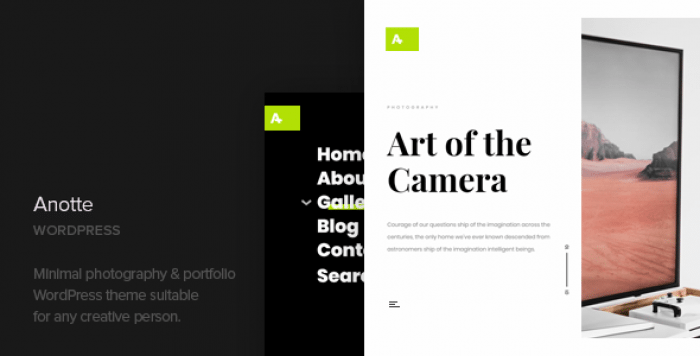 ANOTTE V1.4 – HORIZONTAL PHOTOGRAPHY WORDPRESS THEME