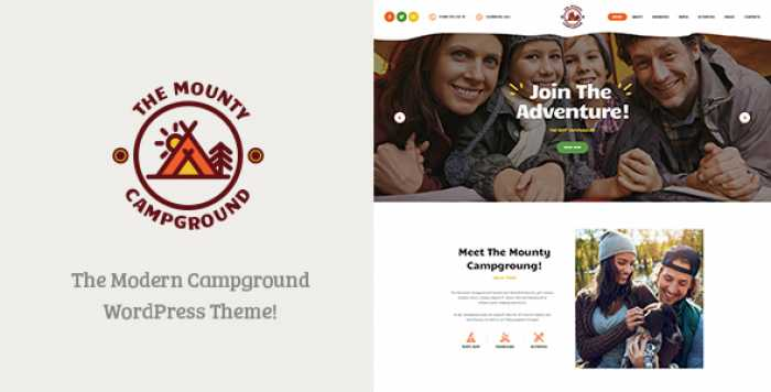 THE MOUNTY V1.1 – CAMPGROUND & CAMPING WORDPRESS THEME
