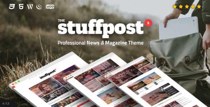 STUFFPOST V1.3.6 – PROFESSIONAL NEWS & MAGAZINE THEME