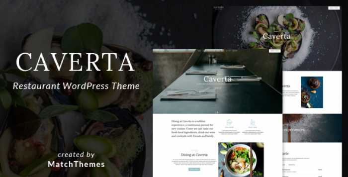 CAVERTA – FINE DINING RESTAURANT WORDPRESS THEME