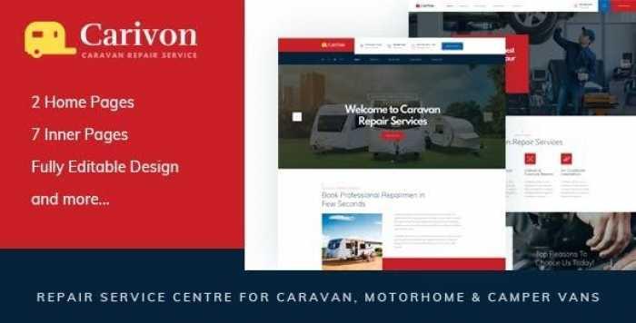 CARIVON – REPAIR SERVICE CENTRE FOR CARAVAN & MOTORHOME HTML TEMPLATE
