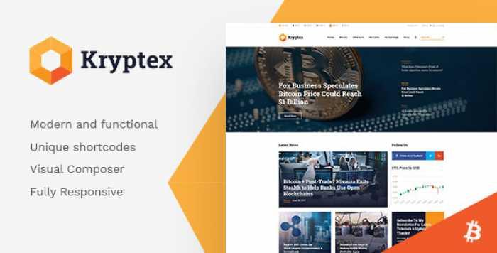 KRYPTEX V1.1.0 – CRYPTOCURRENCY & MINING WORDPRESS THEME