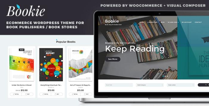 BOOKIE V1.3.7 – WORDPRESS THEME FOR BOOKS STORE
