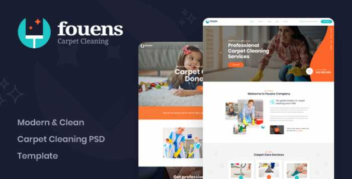 FOUENS – CARPET CLEANING COMPANY PSD TEMPLATE