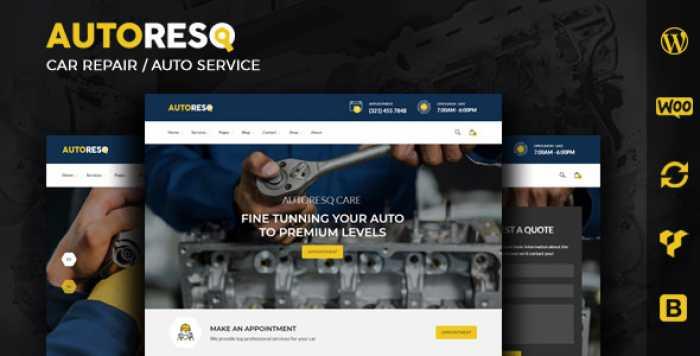 AUTORESQ V2.0 – CAR REPAIR WORDPRESS THEME