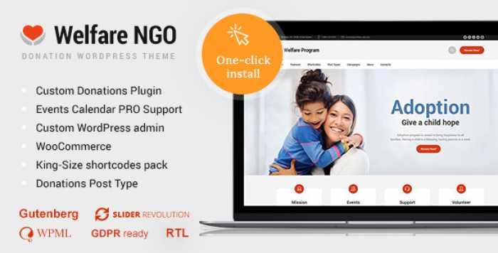 WELFARE NGO V1.1.8 – NONPROFIT ORGANIZATION CHARITY THEME