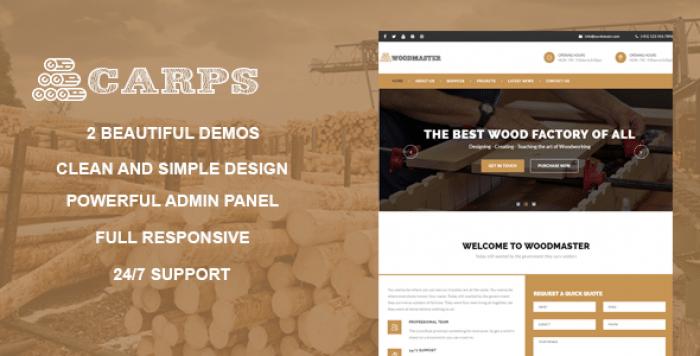 CARPS V1.1 – WOOD CARPENTRY WORDPRESS THEME