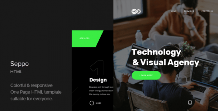 SEPPO – CORPORATE ONE PAGE HTML TEMPLATE