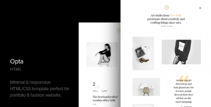 OPTA V1.1 – MINIMAL PORTFOLIO AND PHOTOGRAPHY HTML TEMPLATE