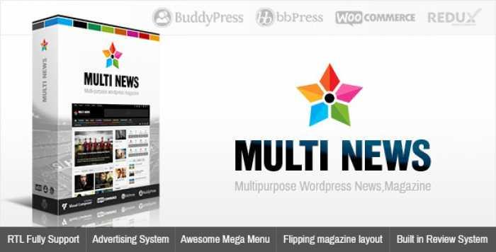 MULTINEWS V2.6.2 – MULTI-PURPOSE WORDPRESS NEWS, MAGAZINE