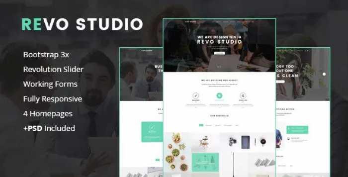REVO STUDIO – MULTIPURPOSE LANDING PAGE