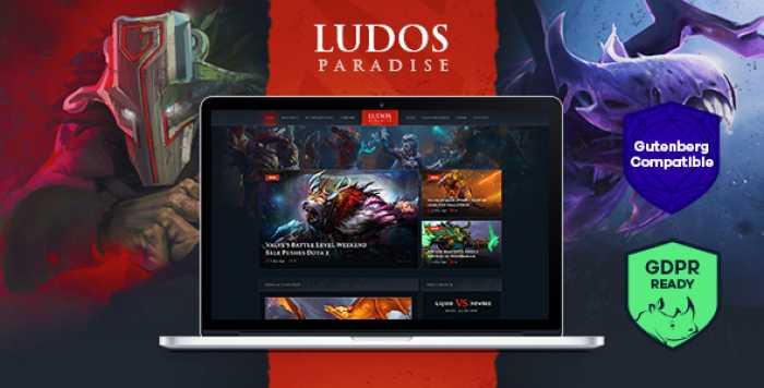 LUDOS PARADISE V1.0 – GAMING BLOG & CLAN WORDPRESS THEME