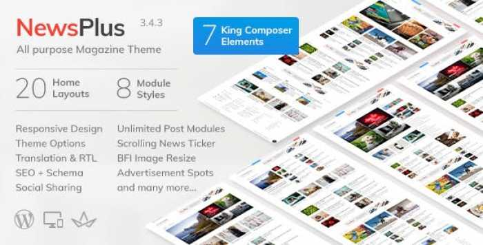 NEWSPLUS V3.4.3 – NEWS AND MAGAZINE WORDPRESS THEME