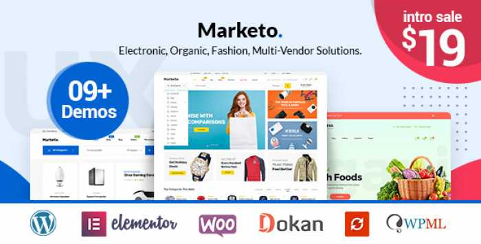MARKETO V1.0.9 – ECOMMERCE & MULTIVENDOR THEME