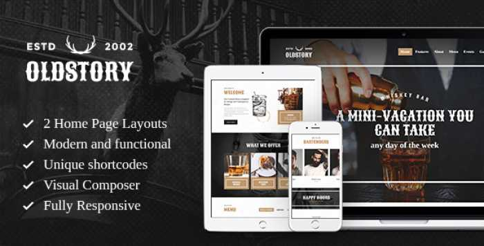 OLDSTORY V1.7 – WHISKY BAR | PUB | RESTAURANT WP THEME